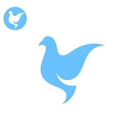 Dove Stylized bird on white background vector image