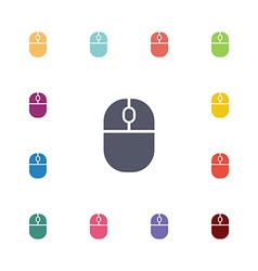 mouse flat icons set vector image vector image