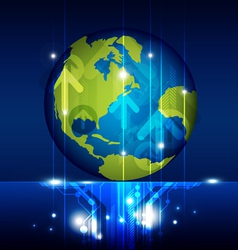 world technology future vector image