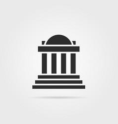 black greek colonnade building with shadow vector image