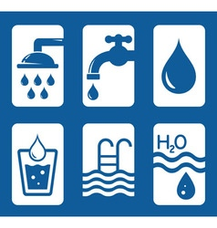 concept water set vector image vector image