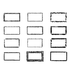 grunge rectangles banners logos icons labels and vector image