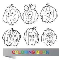 Halloween - coloring book vector image