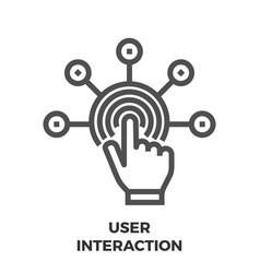 user interaction line icon vector image