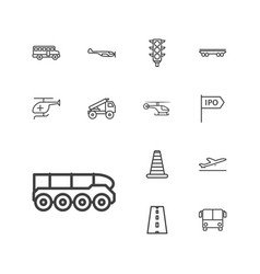 13 traffic icons vector