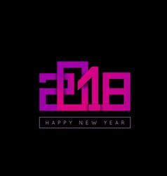 2018 happy new year congratulation origami paper vector image