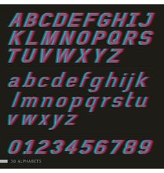3d font italic vector image