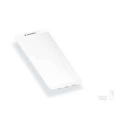 3d white simple smartphone with empty screen vector image