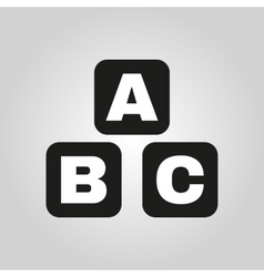 ABC building blocks icon ABC bricks design vector image