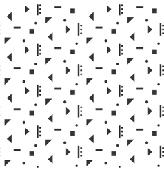 Abstract geometric shapes white seamless pattern vector image