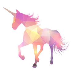 abstract magical unicorn design vector image