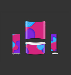 Advertising exhibition stand design with abstract vector