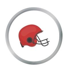 American football helmet icon in cartoon style vector