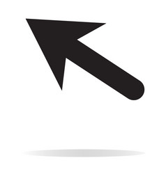 arrow icon on white background black arrow sign vector image
