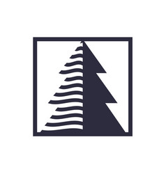 arrow up tree logo business symbol design wood vector image