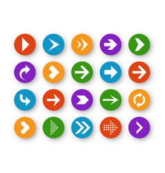 arrows button arrow icon up next back down left vector image