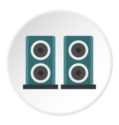 Audio speakers icon flat style vector image