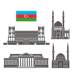 azerbaijan vector image