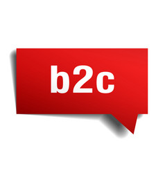 b2c red 3d speech bubble vector image