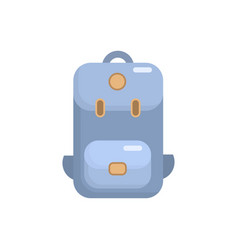 backpack flat icon camping vector image