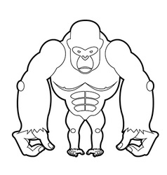 Big gorilla coloring book of African animal vector image vector image