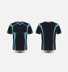 Black and blue layout e-sport t-shirt design vector