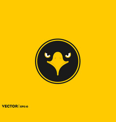 black eagle eye in circle vector image