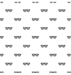 Black pinhole glasses pattern vector