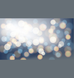 blurred bright abstract bokeh on wide blue vector image
