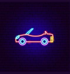 Cabriolet neon sign vector