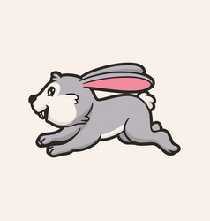 Cartoon animal design happy rabbit and hopping vector