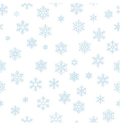 christmas seamless pattern with light blue vector image