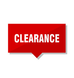 Clearance red tag vector