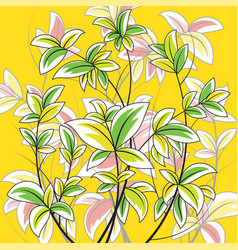 Colorful leaf nature scene vector