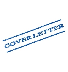 Cover Letter Watermark Stamp vector