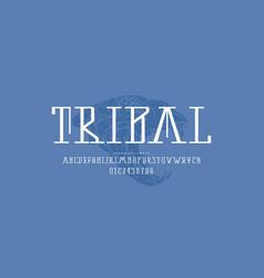 Decorative serif font vector