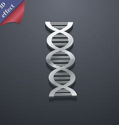DNA icon symbol 3D style Trendy modern design with vector image