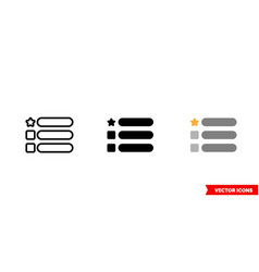 features icon 3 types color black and white vector image