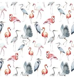 Flamngo and heron pattern vector