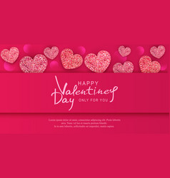 for valentines day background with vector image