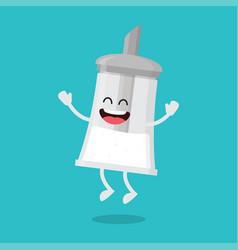 Funny sugar bowl shaker vector