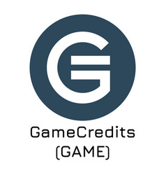 gamecredits game crypto co vector image