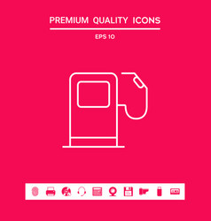 Gas station icon graphic elements for your vector