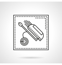 Golf bag flat line icon vector