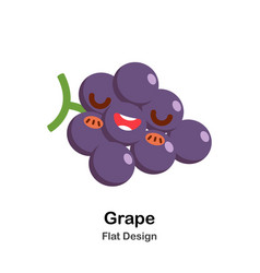 grape flat icon vector image