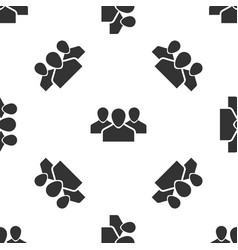 grey users group icon isolated seamless pattern on vector image