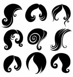 hair symbols vector image vector image