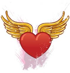 heart with wings illustration vector image
