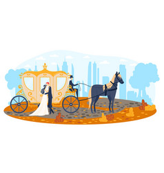 horse young wedding holiday background romantic vector image