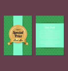 hot deal sale special price best offer gold label vector image